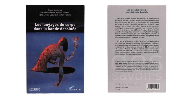 Les langages du corps dans la bande dessinée - Couverture et dos - (c) Stripologie.com
