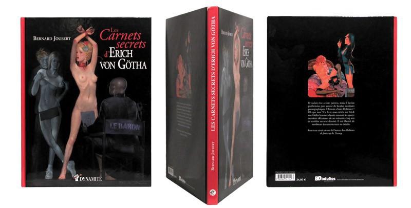 Les carnets secrets d'Erich von Götha - Couverture et dos - (c) Stripologie.com
