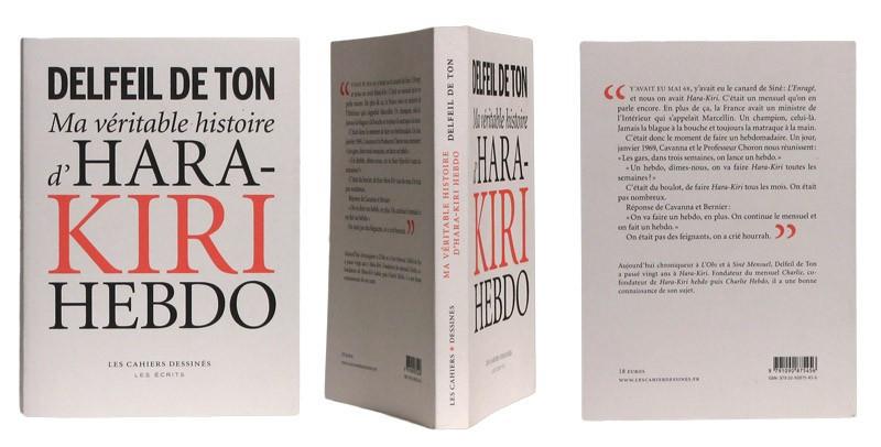 Ma véritable histoire d'Hara-Kiri Hebdo - Couverture et dos - (c) Stripologie.com