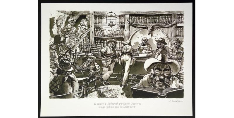 Le Saloon d'intellectuels, détail - Daniel Goossens - (c) Stripologie.com