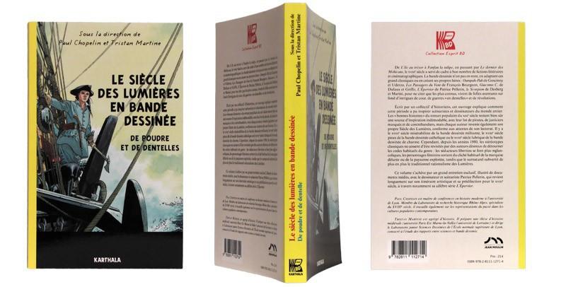 Le siècle des lumières en bande dessinée - Couverture et dos - (c) Stripologie.com