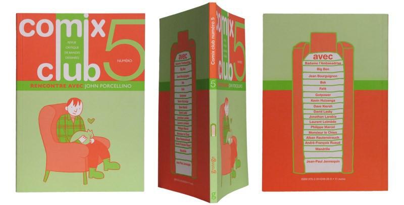 Comix Club n°5 - Couverture et dos - (c) Stripologie.com