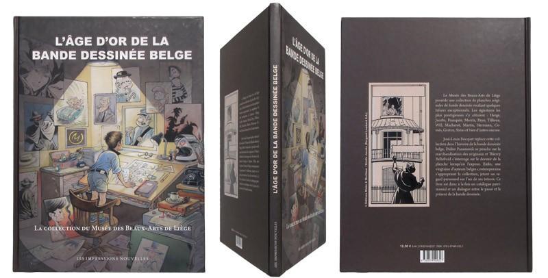 L'age d'or de la bande dessinée belge - Couverture et dos - (c) Stripologie.com