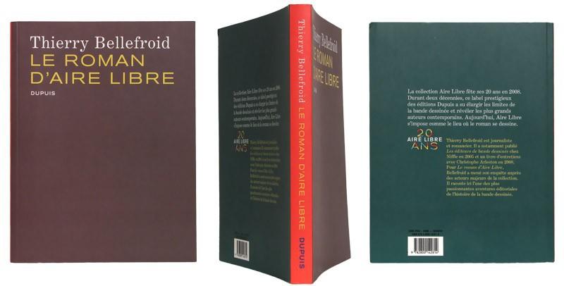 Le roman d'Aire libre - Couverture  et dos - (c) Stripologie.com