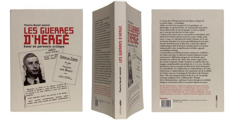 Les guerres d'Hergé - Couverture et dos - (c) Stripologie.com
