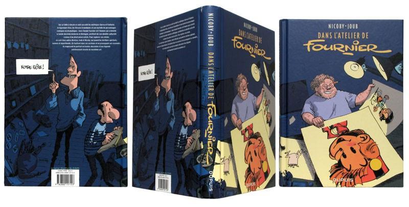 Dans l'atelier de Fournier - Couverture et dos - (c) Stripologie.com