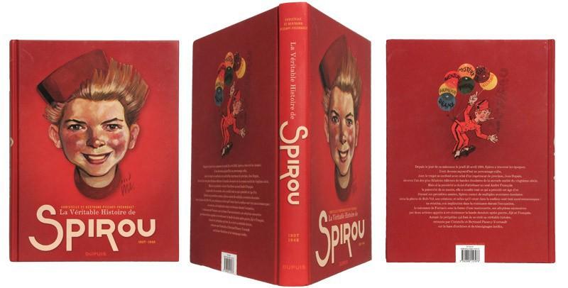 La véritable histoire de Spirou - Couverture et dos - (c) Stripologie.com