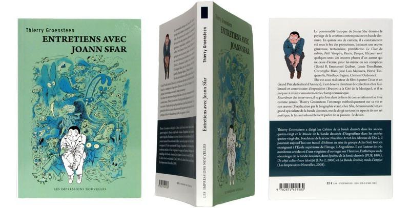 Entretiens avec Joann Sfar - Couverture et dos - (c) Stripologie.com