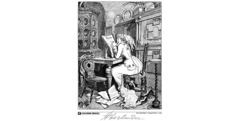 La lectrice - Adolf Oberländer - (c) Coconino & Co / Adolf Oberländer / Stripologie.com