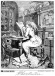 La lectrice (détail) - Adolf Oberländer - (c) Coconino & Co / Adolf Oberländer / Stripologie.com