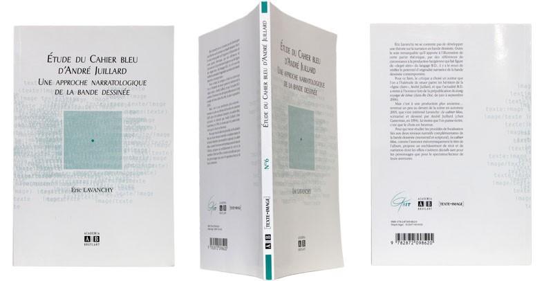 Étude du Cahier bleu d'André Juillard - Couverture et dos - (c) Stripologie.com