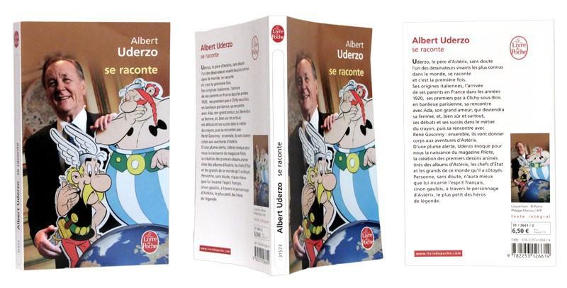Albert Uderzo se raconte - Couverture + dos - (c) Stripologie.com