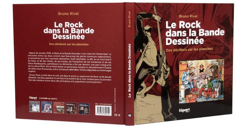 Le Rock dans la Bande Dessinée - Couverture dépliée - (c) Stripologie.com