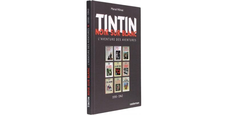 Tintin noir sur blanc - Couverture - (c) Stripologie.com