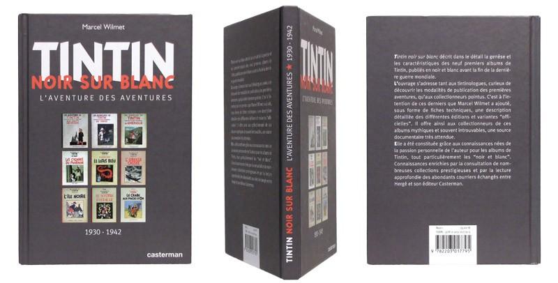 Tintin noir sur blanc - Couverture et dos - (c) Stripologie.com