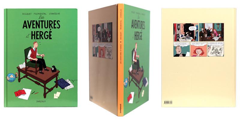 Les aventures d'Hergé - Couverture et dos - (c) Stripologie.com